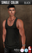 {COLD-ASH} Mens MESH TYLER Tank Top (BLACK - Single Color)