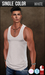 {COLD-ASH} Mens MESH TYLER Tank Top (WHITE - Single Color)