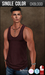 {COLD-ASH} Mens MESH TYLER Tank Top (OXBLOOD - Single Color)