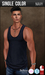 {COLD-ASH} Mens MESH TYLER Tank Top (NAVY - Single Color)