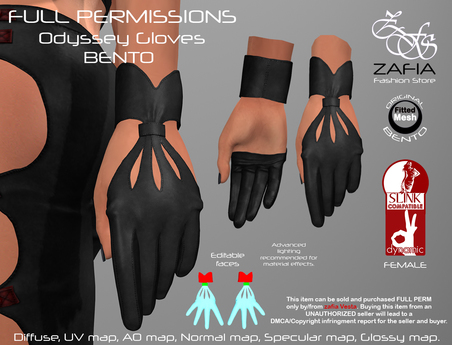 Full Perm-ZAFIA Odyssey Gloves-Slink Female-BENTO