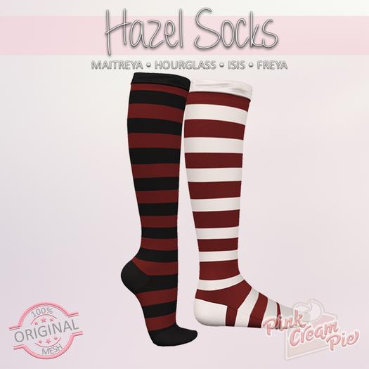 !PCP :: Hazel Stripe Socks [Sangria]