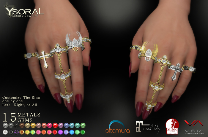 ~~ Ysoral ~~  .:Luxe Set Rings Nesly :.(BENTO)