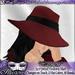 "*~*Illusions*~* ""Carmen"" Fedora Hat (Changes Texture!)"