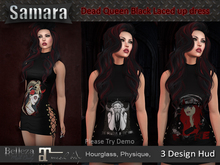 *Samara* Dead Queen Black Laced up dress