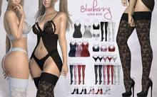 #1 Blueberry - Love Bite - RARE - Lingerie - Black - *H*