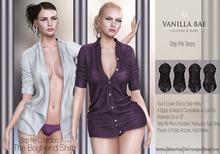 * Vanilla Bae * The Boyfriend Shirt FAT PACK  / Strip Me / Maitreya, Slink Hourglass, Belleza Freya