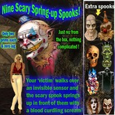 nine Startling Spring-up Spooks! amazing Halloween scary items