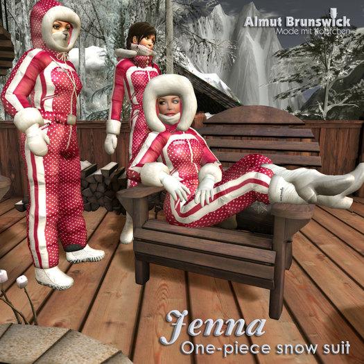 "Almut Brunswick snow suit ""Jenna"" red polkadots"