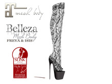 ~PP~ Sheer Black Lace Boots