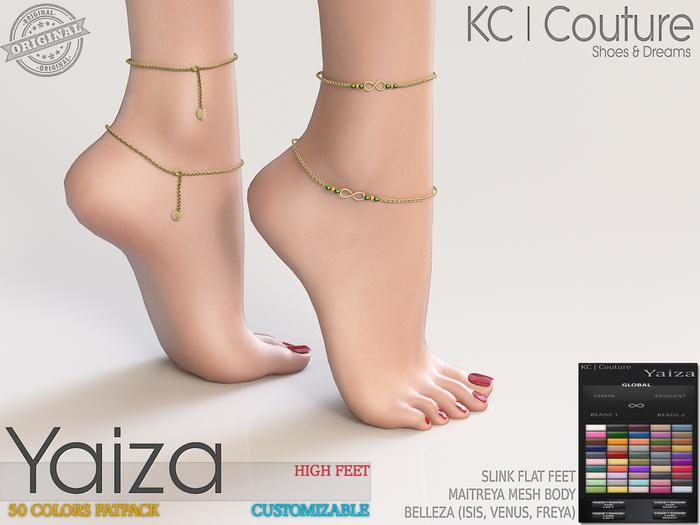 -KC- YAIZA ANKLETS / HIGH FEET / MAITREYA BELLEZA SLINK