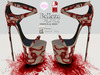 ~PP~ He Had It Coming Bloody Heels ALL Boxed