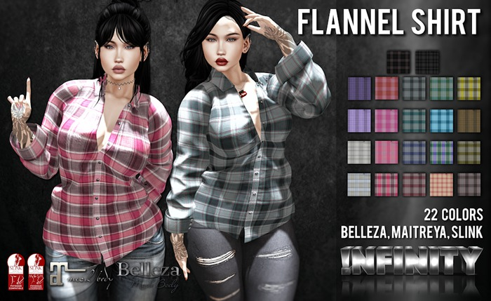 !NFINITY Flannel Shirt - FATPACK