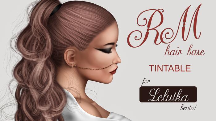 RM Hair Base > Tintable for LeLutka Bento Heads