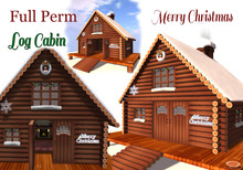 LOG CABIN - Merry Christmas -- [ FULL PERM ]