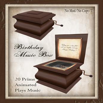 -W- [ Birthday Music box ] steampunk Victorian gift