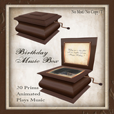-W- [ Birthday Music box ] steampunk Victorian gift