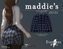 evermore. maddie's // plaid skirt (blue) - maitreya
