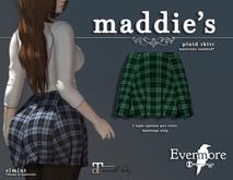 evermore. maddie's // plaid skirt (green) - maitreya