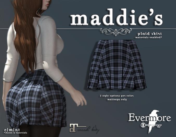 evermore. maddie's // plaid skirt (peri) - maitreya