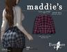 evermore. maddie's // plaid skirt (pink) - maitreya