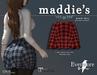 evermore. maddie's // plaid skirt (rose) - maitreya