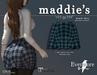 evermore. maddie's // plaid skirt (teal) - maitreya