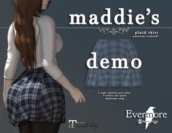 evermore. maddie's // plaid skirt demo - maitreya