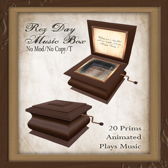 -W-[ Rezday Musicbox ] (transfer) gift love rezday birthday steampunk victorian wood music box