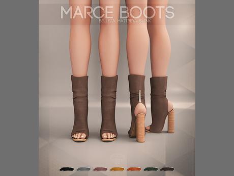 Pure Poison - Marce Boots  Ad - ons for Isis, Freya, Maitreya, Hourglass High Feet