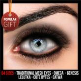 UA - Eyes Gray GIFT (Genesis-Lelutka-Catwa-Omega-CB)