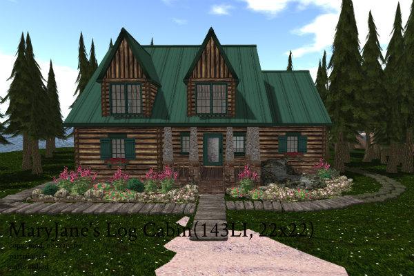 MaryJane's Log Cabin(143LI, 22x22)