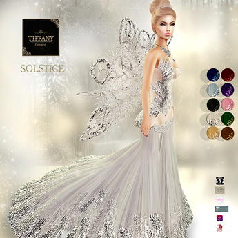 ::TD:: Solstice Gown with Appliers ~ FATPACK [Maitreya,Belleza,Omega,TMP,Slink,Classic]