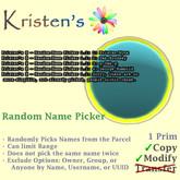 Kristen's @ - Random Name Picker