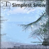 [DDD] Simplest Snow Set - Low LI & Low Lag Delicate Falling Snow