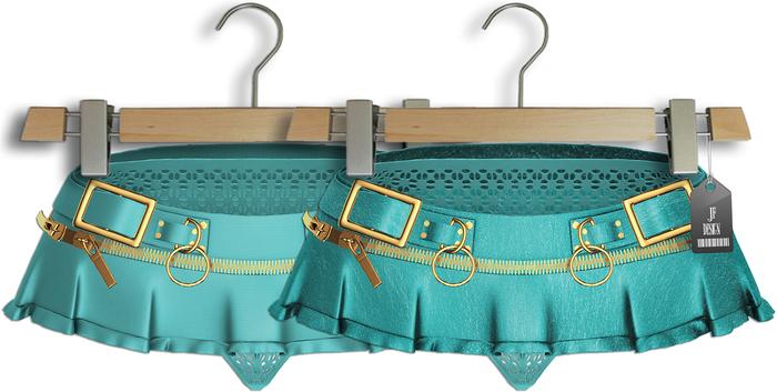 "JF Design""Aster""[Maitreya/Belleza] Panties/Skirt - Turquoise"