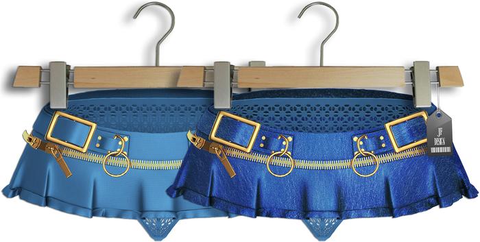 """JF Design""""Aster""""[Maitreya/Belleza] Panties/Skirt - Blue"""