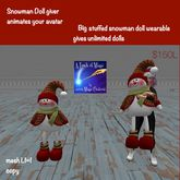 Big snowman doll giver -xmas sac