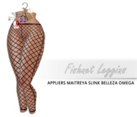 iS Fishnet Leggins [omega/maitreya/belleza/slink appliers]BLACK