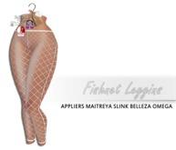 iS Fishnet Leggins [omega/maitreya/belleza/slink appliers]WHITE