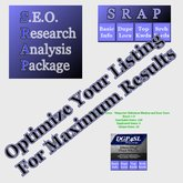 SEO Research Analysis Package (SRAP) HUD - Tools to Optimize Your Rank in Search