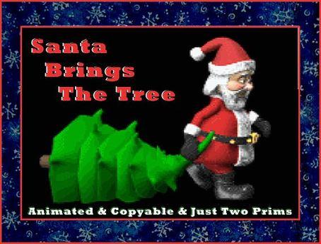 ❄ Santa Claus Bringing The Christmas Tree ❄ Animated
