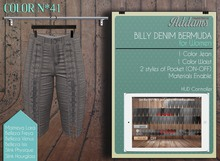 "Addams ""Billy"" Mesh Denim Bermudas for Maitreya, Belleza, Slink #41"