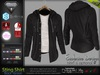 STING BLACK Male Open Sweatshirt with T- Shirt MESH - ADAM, AESTHETIC, SIGNATURE, SLINK, TMP, JAKE - FashionNatic