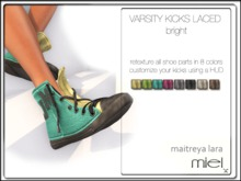 MIEL VARSITY KICKS LACED - bright (FITTED MESH)