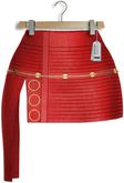 "Casadel ""Aurora"" [Maitreya/Belleza] Skirt - Leather Red"