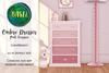 .BASIL. Pink Ombre Dresser