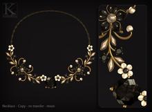 (Kunglers) Simara necklace - onyx
