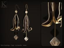 (Kunglers) Virgila earrings - obsidian