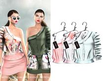 "Elegance Boutique - Shirt  -Salmon/ Pink / Aqua- ""Henna"" Maitreya / Slink / Belleza"
